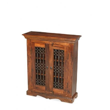 Jali Sheesham Wood DVD Rack